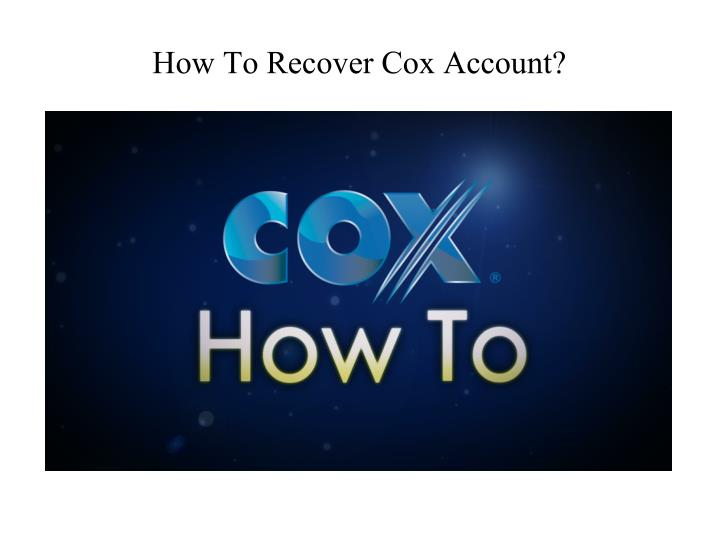 how to recover cox account n.