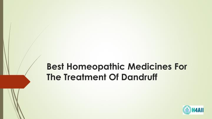 best homeopathic medicines for the treatment of dandruff n.