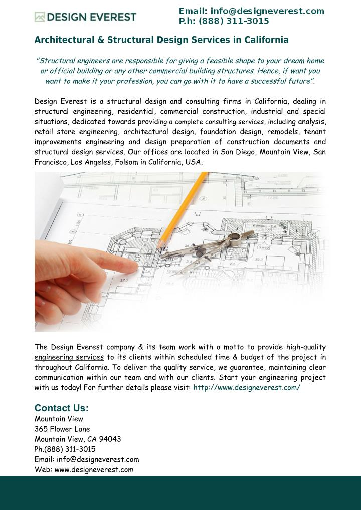 PPT - Structural Design Services in California PowerPoint