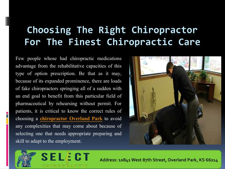 choosing the right chiropractor for the finest chiropractic care n.