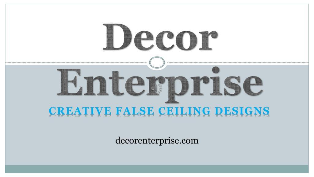 Ppt Top Gypsum False Ceiling Contractor In Kolkata Decor