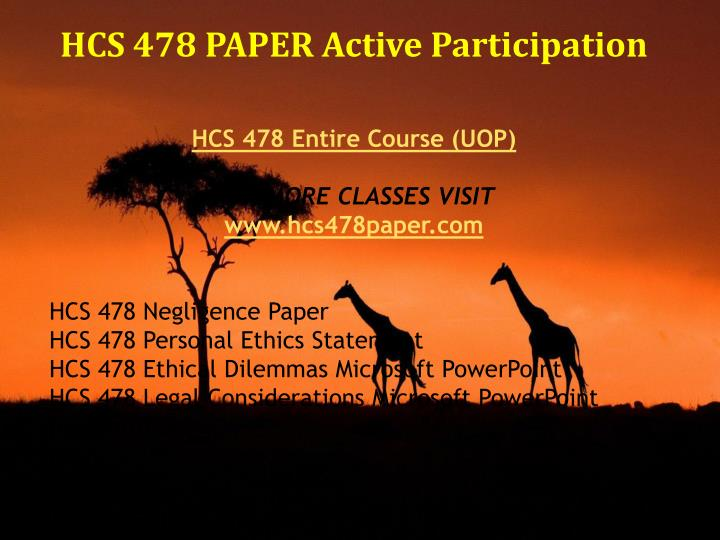 assignement 1 hcs 478 Tutorialrank is a online tutorial store we provides hcs 478 ethical dilemmas microsoft powerpoint.