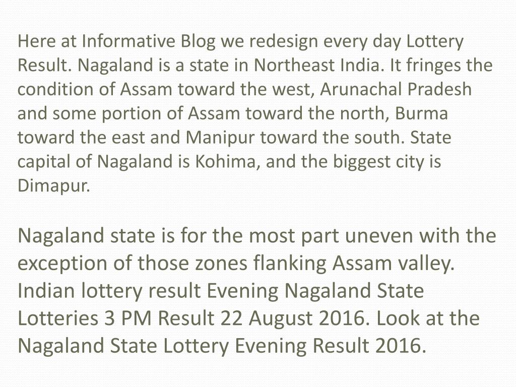 PPT - Know Daily Lottery Result of Nagaland state PowerPoint