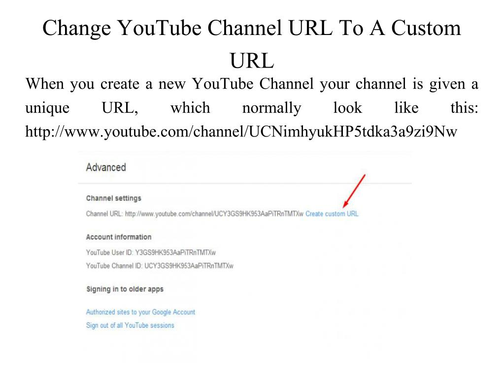 PPT - How to create YouTube channel url? PowerPoint