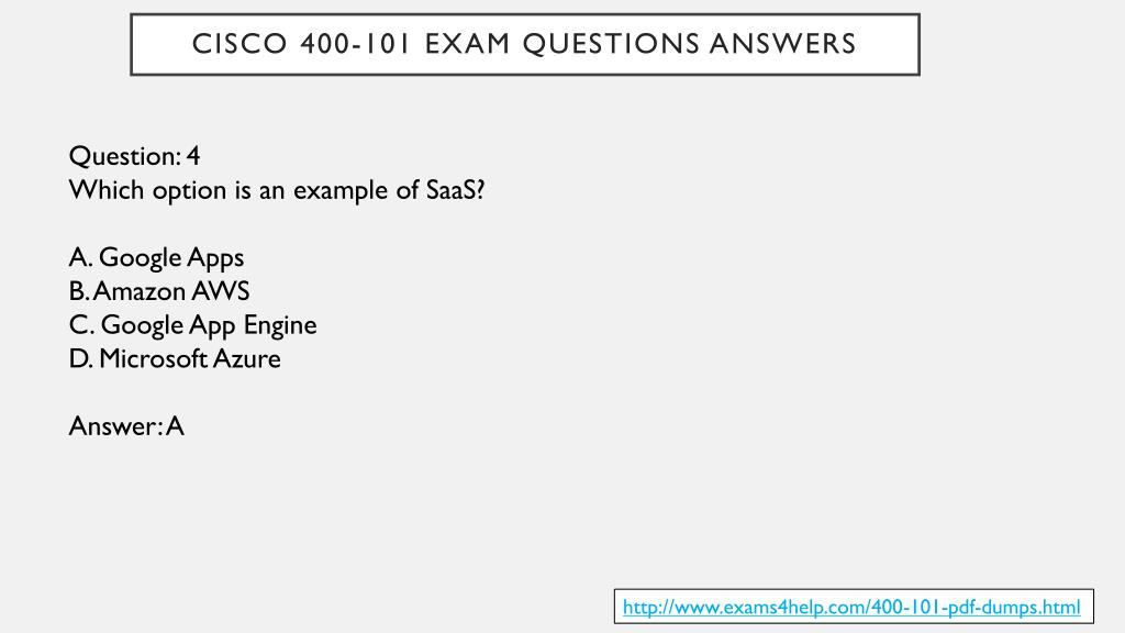 PPT - Cisco 400-101 Real Exam Questions PowerPoint