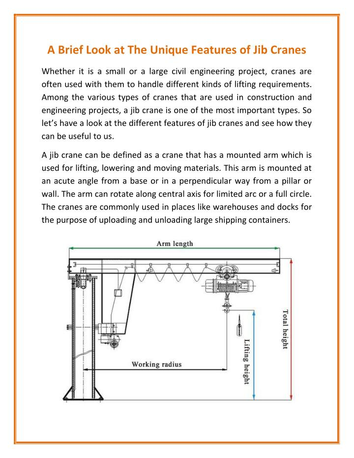 PPT - Jib Crane with Excellent Performance PowerPoint