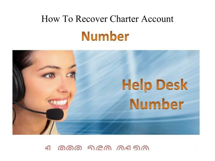 how to recover charter account n.