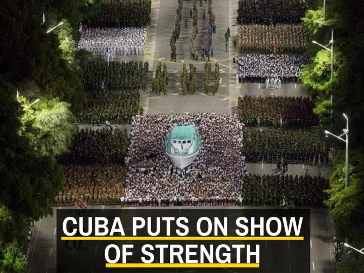 cuba puts on show of strength n.