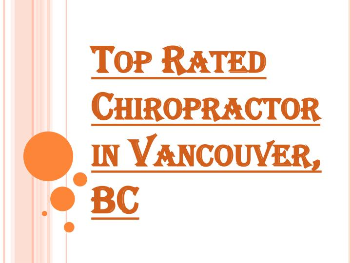 top rated chiropractor in vancouver bc n.