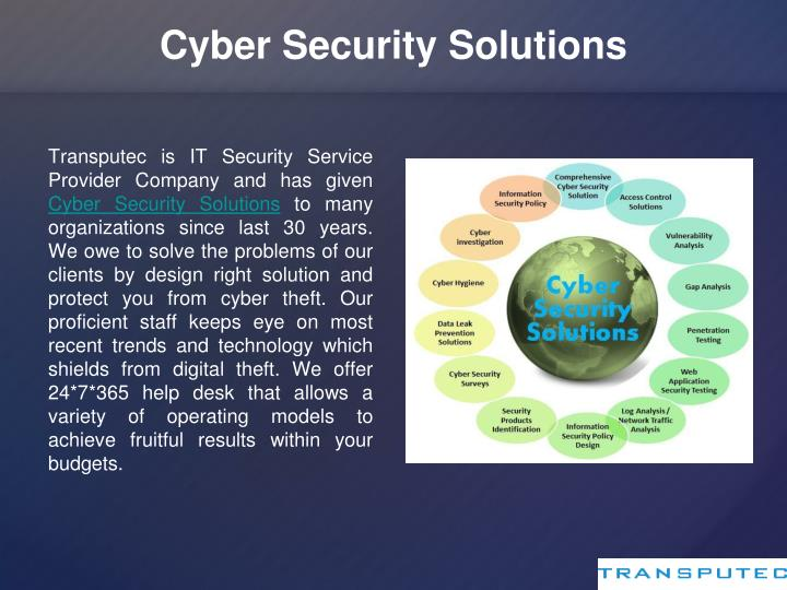 Ppt Transputec Managed Security Service Provider