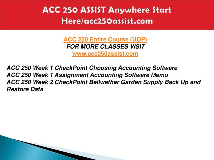 assignment accounting software memo