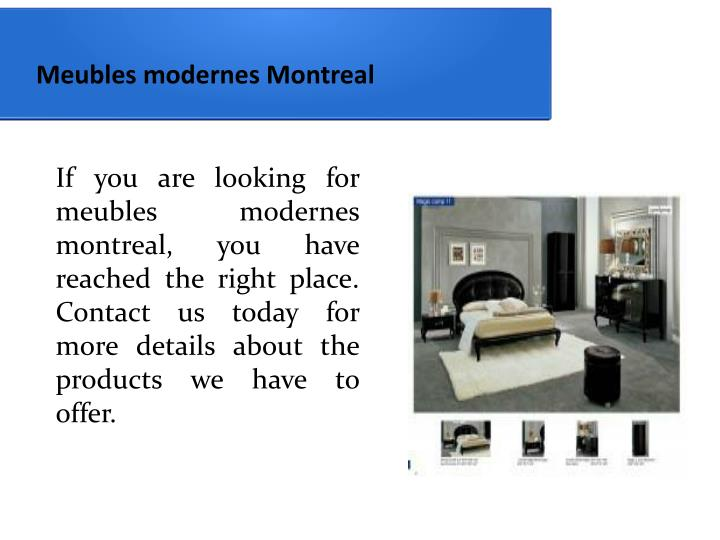Ppt Meuble Montreal Centre Liquidation Powerpoint Presentation