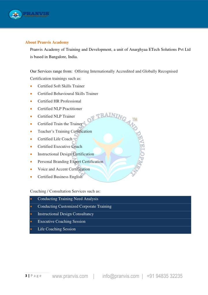 Ppt Soft Skills Trainer Certification Program Powerpoint