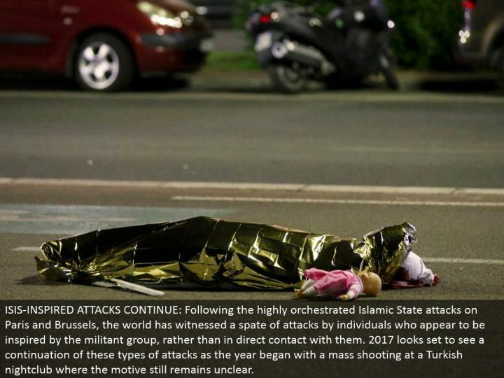 ISIS-INSPIRED ATTACKS CONTINUE: Following the exceptionally organized Islamic State assaults on Pari...