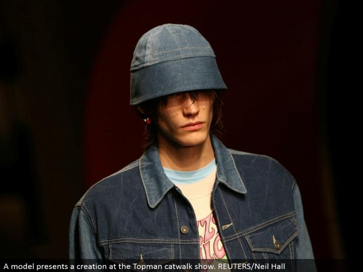 A display exhibits a creation at the Topman catwalk appear. REUTERS/Neil Hall
