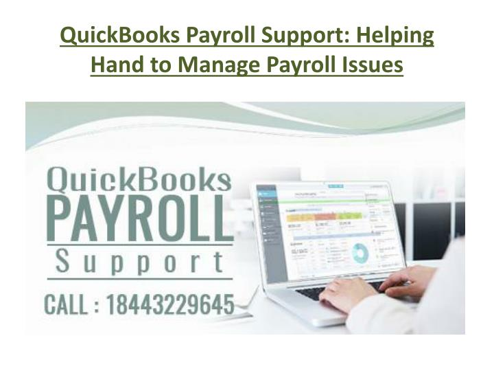 Quickbooks payroll support helping hand to manage payroll issues