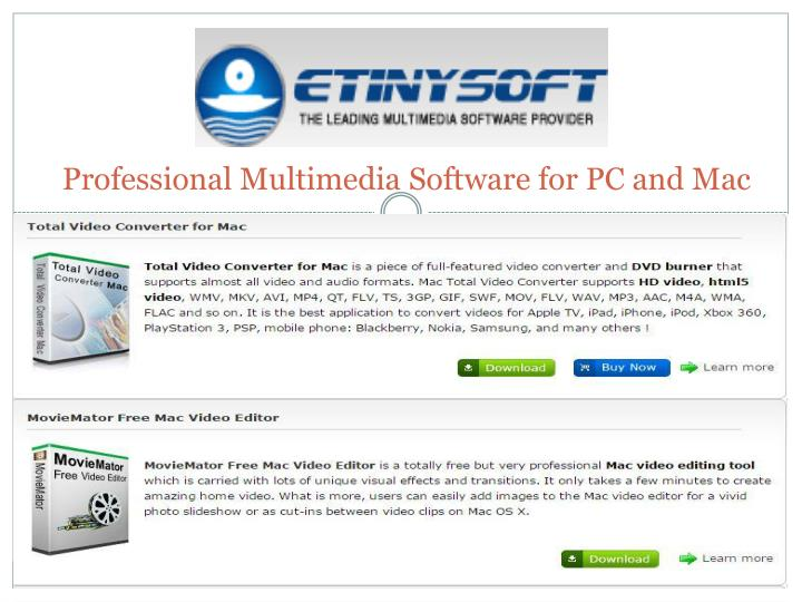 professional multimedia software for pc and mac n.
