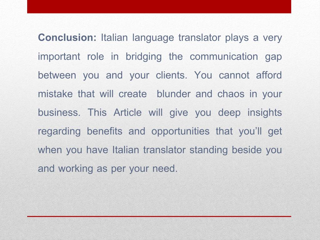 Translator Italian: Acquainting Italian Translation Services With Your