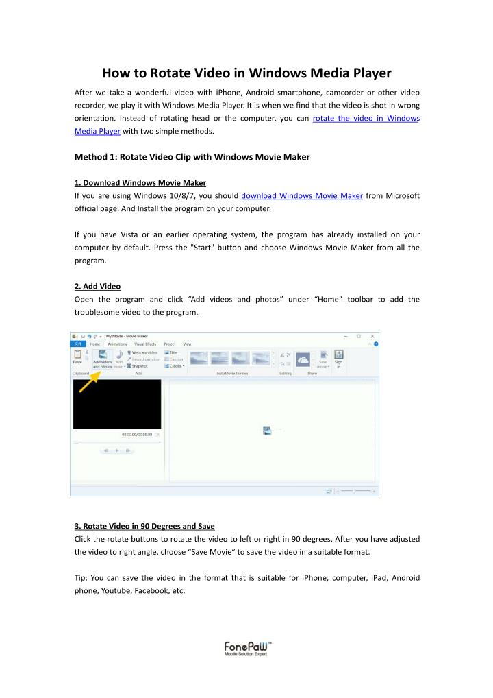 Ppt how to rotate video in windows media player powerpoint how to rotate video in windows media player ccuart Images