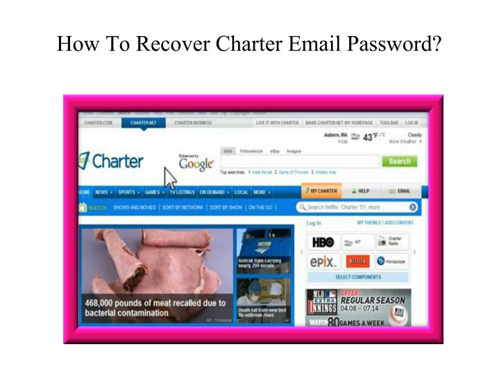 how to recover charter email password n.