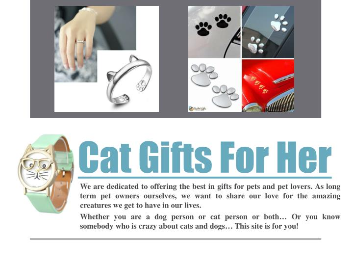 cat gifts for her n.
