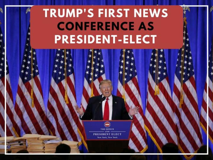 trump s first news gathering as president elect n.