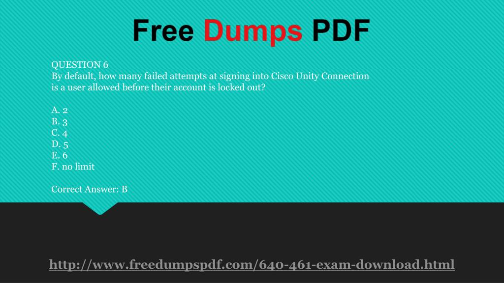PPT - 640-461 Practice Exam Questions PowerPoint Presentation - ID