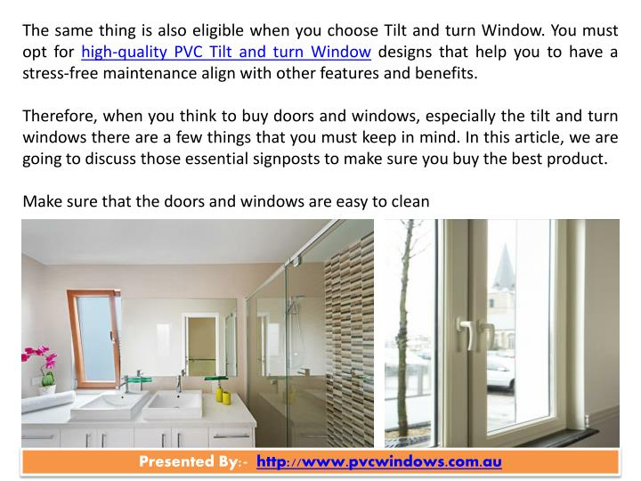 Ppt Tips To Buy High Quality Tilt And Turn Window In