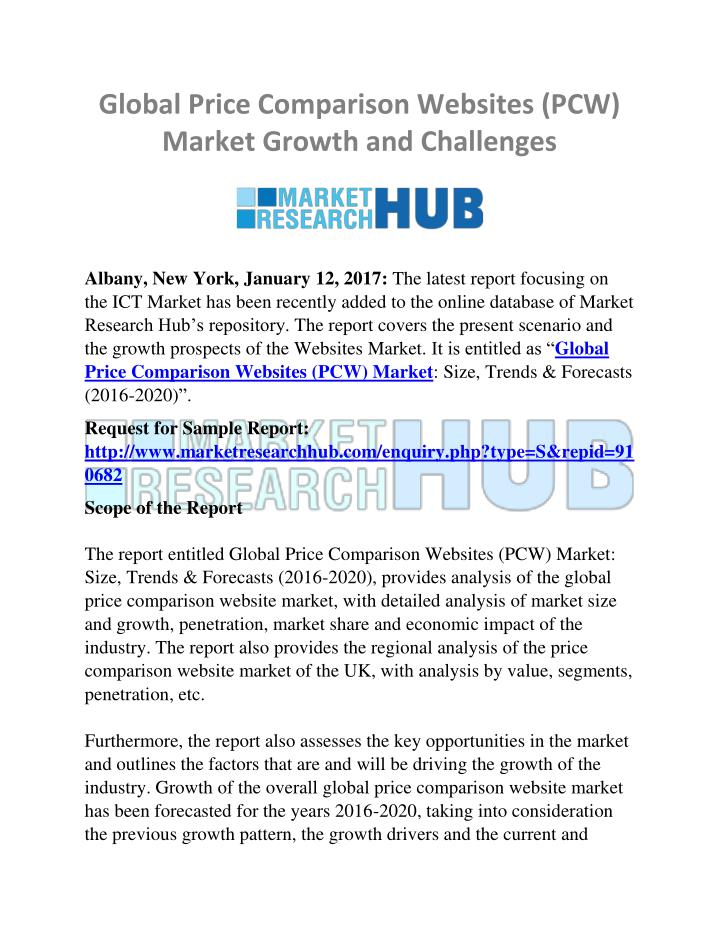 Current Economic Trends 2020.Ppt Global Price Comparison Websites Pcw Market Growth