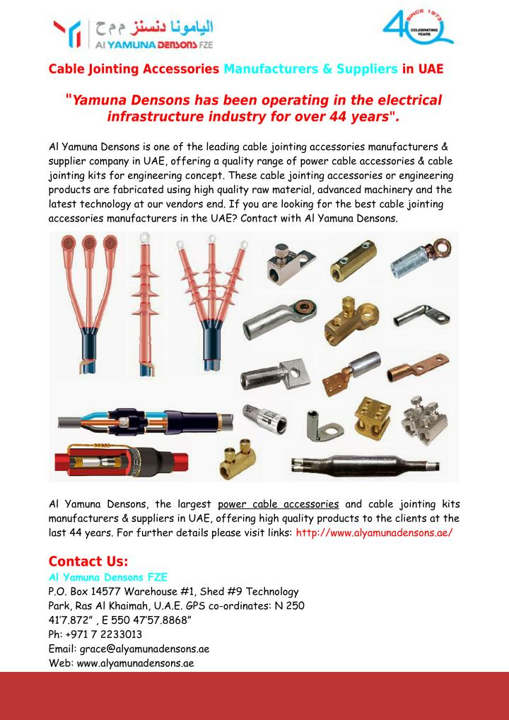 PPT - Power Cable Accessories Manufacturers & Suppliers in UAE ...
