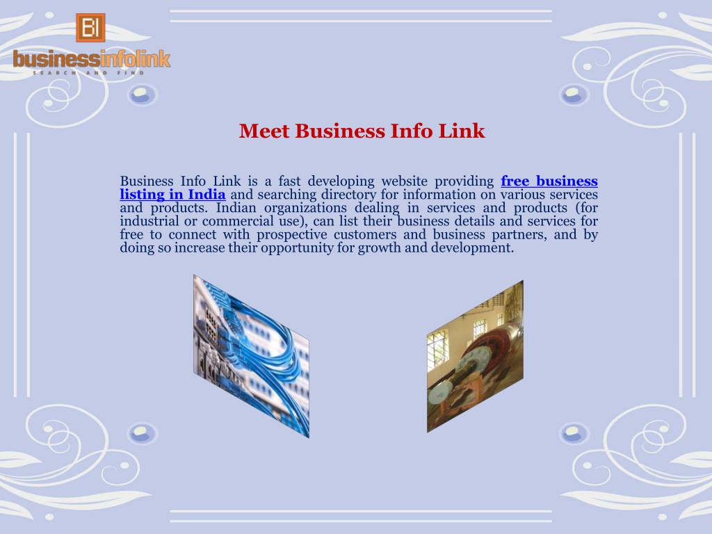 PPT - Businessinfolink: Providing Free Business Listings in