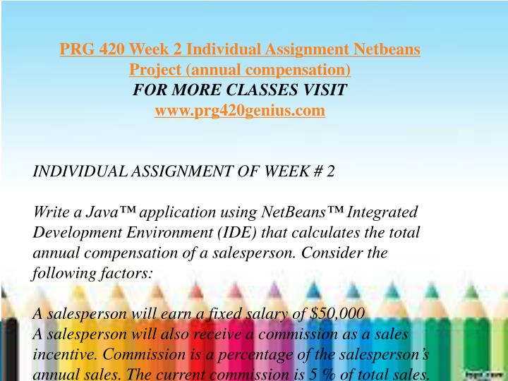 prg420 v10 week 4 individual assignment