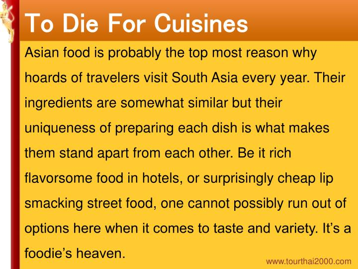To Die For Cuisines