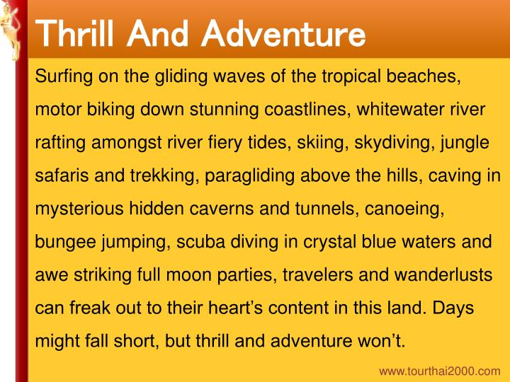 Thrill And Adventure