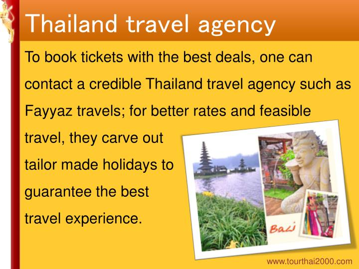 Thailand travel agency