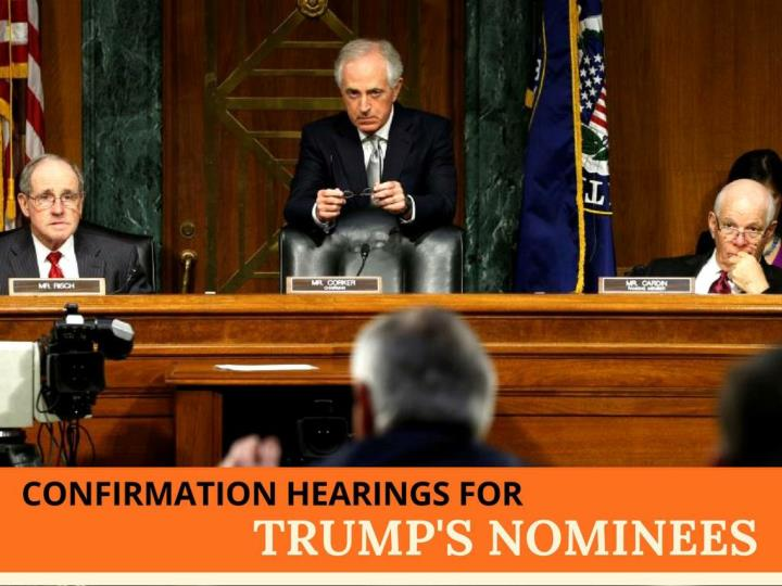 affirmation hearings for trump s nominees n.