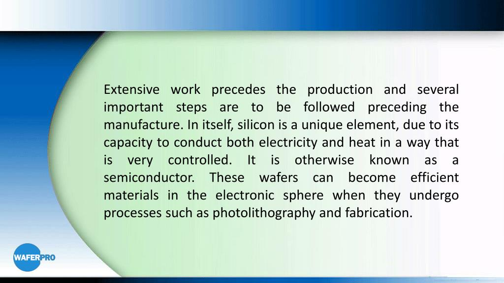 PPT - The Many Processes of Silicon Wafer Processing