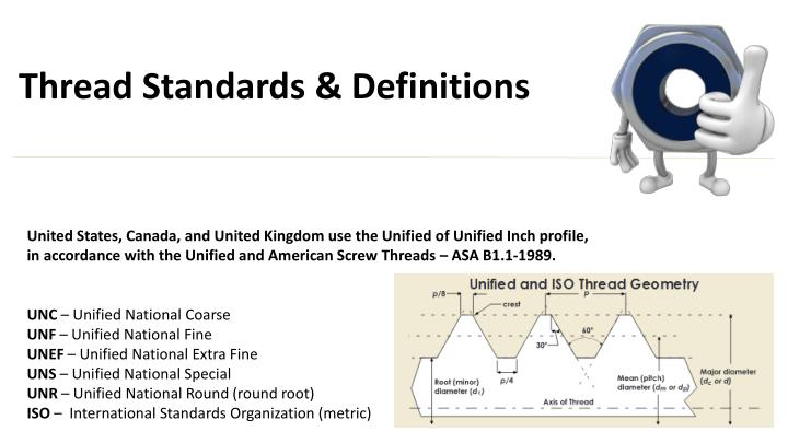 PPT - Fastener Thread Standards and Definitions PowerPoint