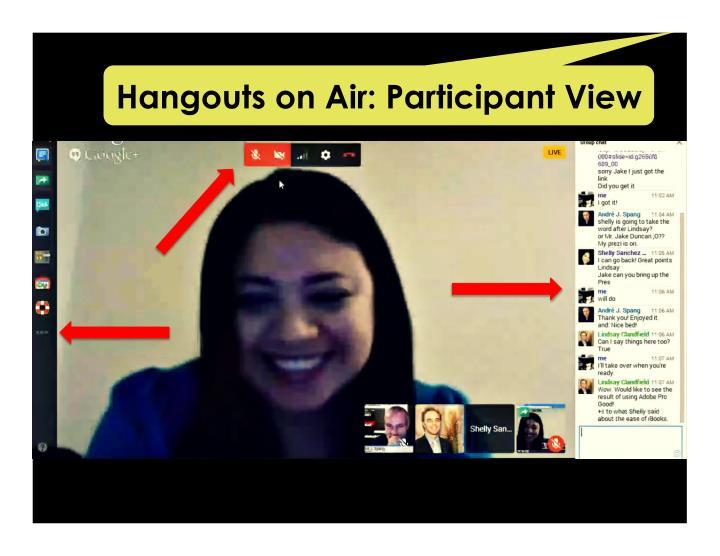 Hangouts on Air: Participant View