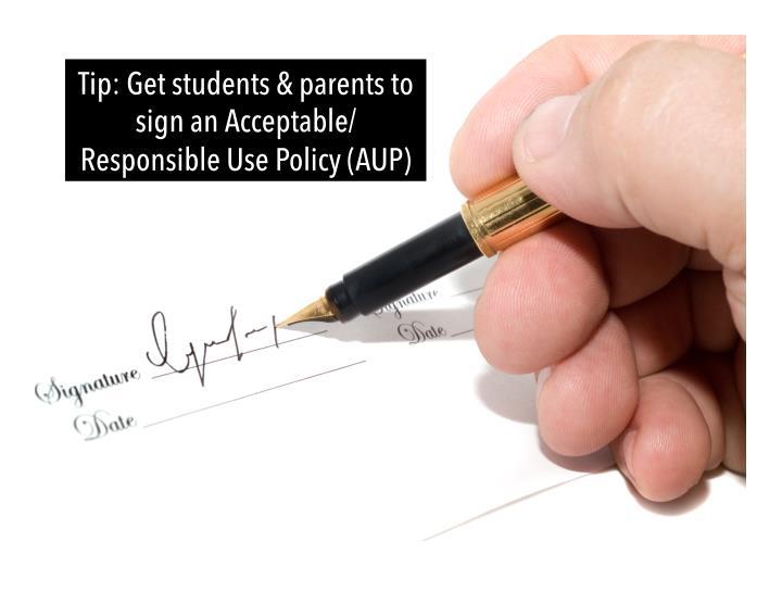 Tip: Get students & parents to