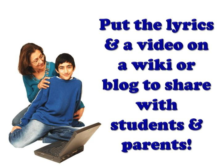 Put the lyrics & a video on a