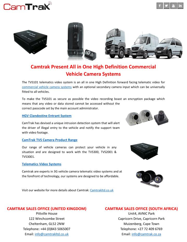 Commercial Vehicle Definition >> Ppt Camtrak Present All In One High Definition Commercial