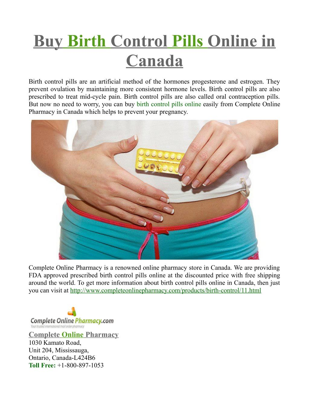 how to get birth control in canada