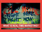 what is real time marketing