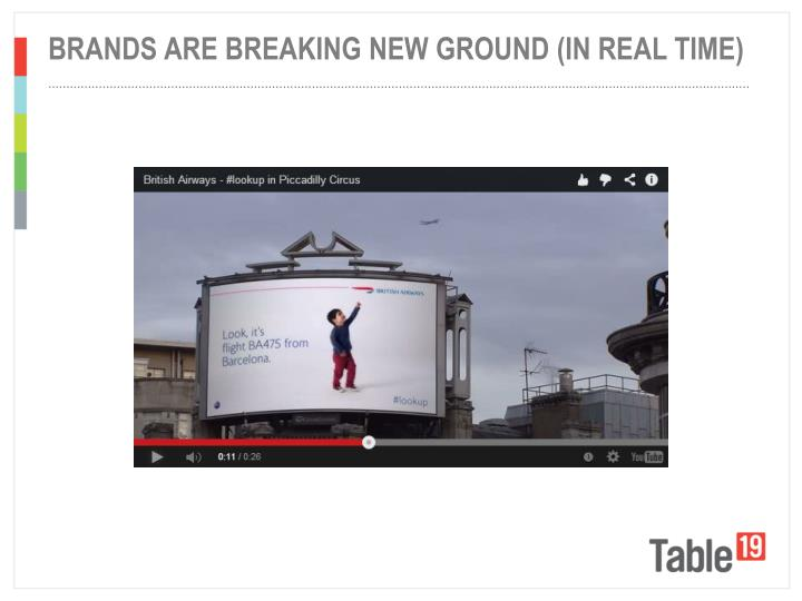Brands are breaking new ground (in real time)