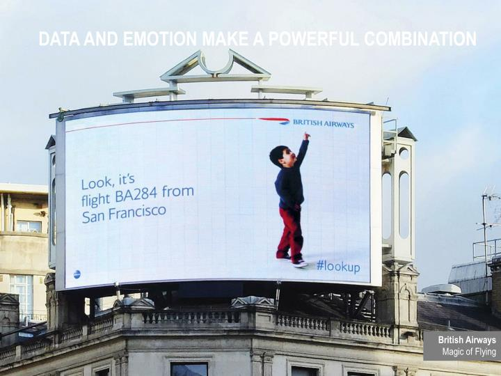 DATA AND EMOTION MAKE A POWERFUL COMBINATION