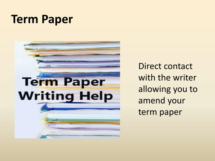 Term paper write powerpoint