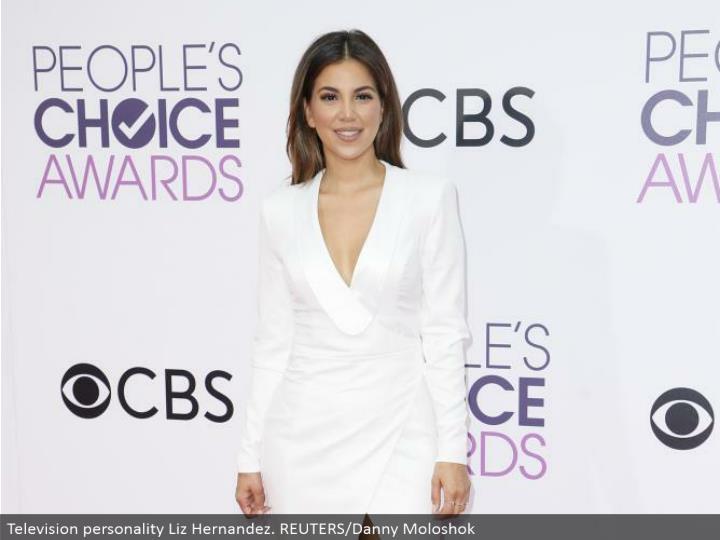 Television identity Liz Hernandez. REUTERS/Danny Moloshok