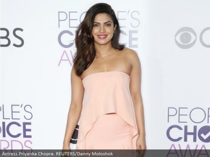 Actress Priyanka Chopra. REUTERS/Danny Moloshok
