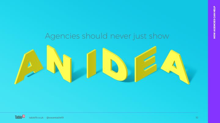 HOW AGENCIES CAN HELP